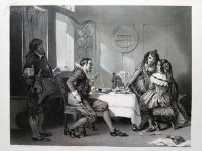 1854年钢版画《被戏弄》(THE VICTIM)---出自奥古斯特·艾格作品,《弗农画廊精选》,34*25厘米--精美,漂亮,高质量(3)