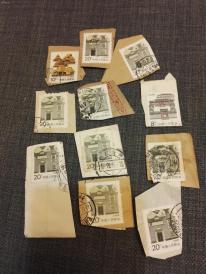 一堆民居的残票 1   这批邮票全部保真,假一赔三