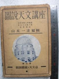 5)难得   日本昭和十二年(1937年)软精装《图说天文讲座》卷七-----真正的毛边本    当时在大连的日本人山内素雄藏书
