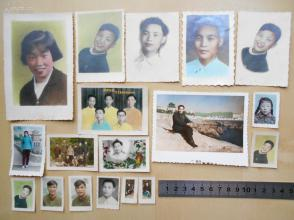 老照片【江西冶金学院人家一家散出,手工上色照片18张】