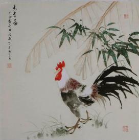 河南省书画院专业画家,郑州市美术家协会副主席 《连俊洲》大吉图