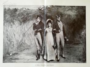 1890年木刻版画《腹背受敌》(zwischen zwei feuern)---58*40.5厘米--木刻艺术欣赏(26)
