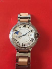 卡地亚玫蓝地球星月男款手表