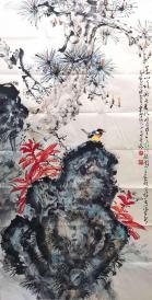 岭南画派著名画家 广州大学美术科教授 【赵少昂】花鸟