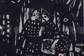 著名旅美版画家 姜明立 1981年版画作品《雨》一张 (尺寸:68.2*62cm)HXTX109754