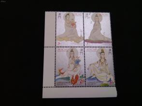 澳门早期神话系列邮票——观音邮票一套新全2