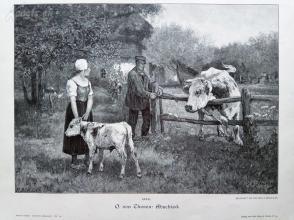 1890年木刻版画《告别》(Abschied)---40.5*29厘米--木刻艺术欣赏(7)