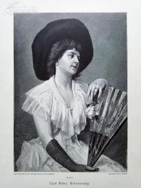1890年木刻版画《记忆中的她》(Erinnerung)---40.5*29厘米--木刻艺术欣赏(7)