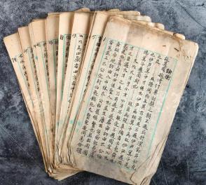 清末民国 佚名毛笔抄稿《论衡》卷三十 存八十七叶一百七十三面(使用美美印行稿纸)  HXTX104998
