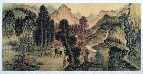 长安画派创始人之一,陕西省美术家协会主席【赵望云】山水