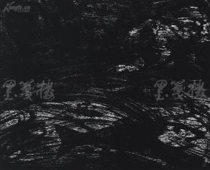 著名版画家、北大荒版画开创者和奠基者 杜鸿年 1987年黑白木刻版画作品《变迁》一幅 原装裱(九十年代在山东省文化馆展出,尺寸49*39cm,钤印:杜鸿年)HXTX105280
