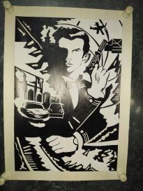西安美院阿联版画《007》