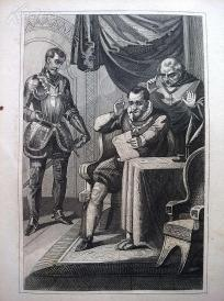 1842年钢版画《腓力二世》(PHILIPP Ⅱ.)—图解世界通史--21*14厘米---精美,漂亮,高质量