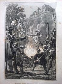 1842年钢版画《德国农民战争》(SCENE AUS DEM BAUERNKRIEG)—图解世界通史--21*14厘米---精美,漂亮,高质量
