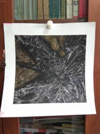 西美原创《火树银花》,每幅唯一,但凡装框,就是装饰精品!有品位,值得收藏!