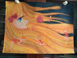 西美原创《童话仙子》,每幅唯一,但凡装框,就是装饰精品!有品位,值得收藏!