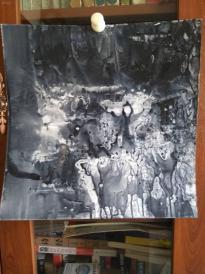 西美原创《水墨韵味4》,每幅唯一,但凡装框,就是装饰精品!有品位,值得收藏!