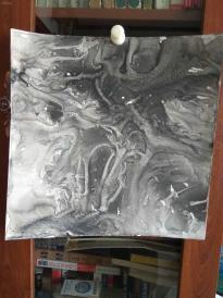 西美原创《水墨韵味1》,每幅唯一,但凡装框,就是装饰精品!有品位,值得收藏!