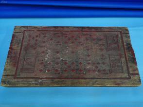 民国期间印刷扑克牌印刷大木板,一块,只有红桃和方片两种