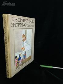 英文民国大开本珂罗版童书《乔瑟芬买东西》