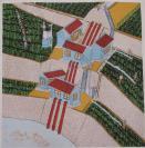70年代 套色版畫作品一幅  鏡心尺寸44*45厘米