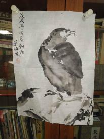 西安美院收的中国传统水墨画《鹰》,简介见详情。