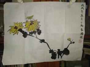 西安美院收的中国传统水墨画《螳螂》,简介见详情。