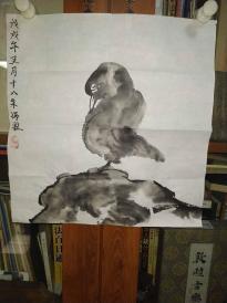 西安美院收的中国传统水墨画《鸟》,简介见详情。