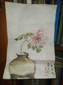 西安美院收的中国传统水墨画《瓶花2》,简介见详情。