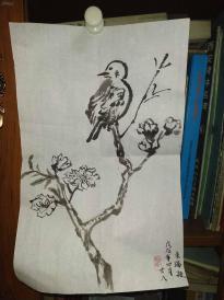 西安美院收的中国传统水墨画《崔子范风格鸟》,简介见详情。