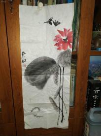 西安美院收的中国传统水墨画《白石》,简介见详情。