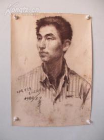 1980年作  男性 素描稿一幅  尺寸44*61厘米16  或为画家江平
