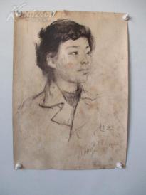 1979年作 女性 素描稿一幅  尺寸54*39厘米10    或为画家江平