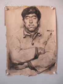 1980年作  男性 素描稿一幅  尺寸44*61厘米17   或为画家江平