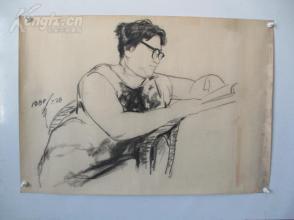 1980年作  男性 素描稿一幅  尺寸88*61厘米8   或为画家江平