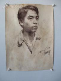 1979年作 男性 素描稿一幅  尺寸54*39厘米12   或为画家江平