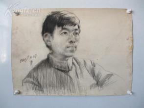 1980年作  男性 素描稿一幅  尺寸54*39厘米14   或为画家江平