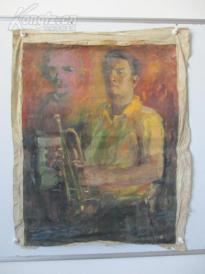 1980年作  男性油画一幅  尺寸57*77厘米22   或为画家江平