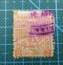 1894年清代九江商埠九江书信馆公务局--花卉图贰分邮票1张