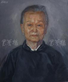 著名肖像油画家 颛孙中华 布面油画作品《老奶奶》一幅(未落款,尺寸:60*50 cm)  HXTX105215