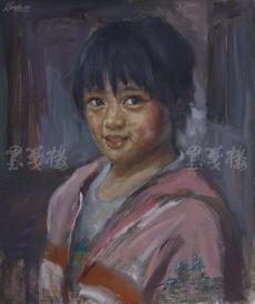 著名肖像油画家 颛孙中华 2011年布面油画作品《小女孩》一幅(尺寸:60*50 cm)  HXTX105211