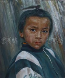 著名肖像油画家 颛孙中华 布面油画作品《小男孩》一幅(未落款,尺寸:60*50 cm)  HXTX105210