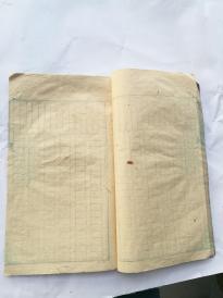 手抄本,后面是蓝格空白本,元林堂造。手抄内容少见,有送壮一了从军抗日论,国民救国说等