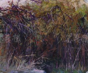 著名油画家、原湖北美术学院教授 崔哲民 1981年水粉画作品《刺丛》一幅 (钤印:崔哲民,尺寸:44*37.5cm)  HXTX105351