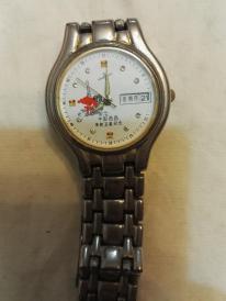 罕见   18K金中国西昌发射卫星纪念手表  走时准