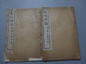 民国白纸线装本:璇玑碎锦 春吟回文【全2册/书内收录30幅好玩的图案】