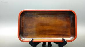 N  0225   天然整木长方形茶盘    未使用新品!