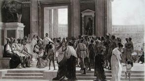 """1886年意大利艺术系列凹版蚀版画《奥林匹克运动会》—意大利画家""""G.SCIUTI""""作品 42x29cm"""