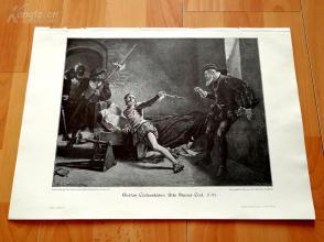 1890年木刻版画《一心求死的尼尔斯》(Nils Stures Tod)---40.5*29厘米--木刻艺术欣赏(z2)