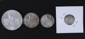 1921、1922、1936、1937年 法属印度支那1角、2角、5角、1元面值银币 一套四枚(直径约2至3.9cm,此币曾于中国流通) HXTX107818